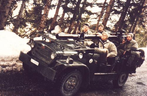 Compagnia Controcarri Cadore (Battaglione Feltre), verso Monte Croce di Comelico (esercitazione 1986)