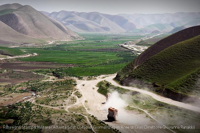 Afganistan, Un punto di osservazione della bellissima valle Afgana