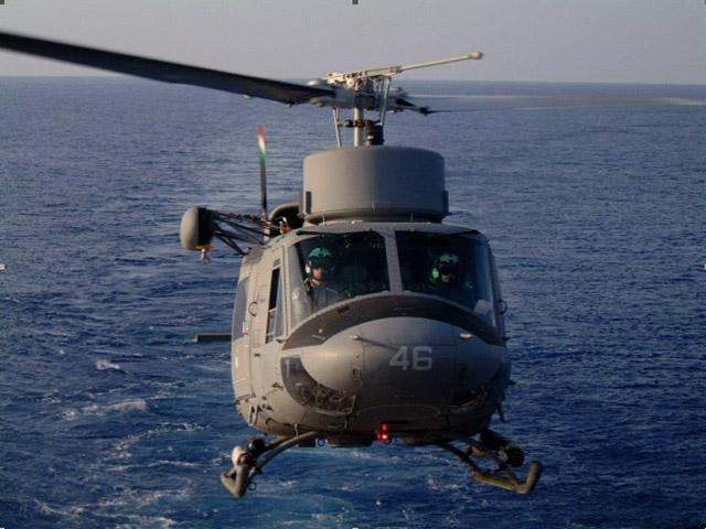 L'aeromobile della Marina Militare Agusta AB 212 ASW