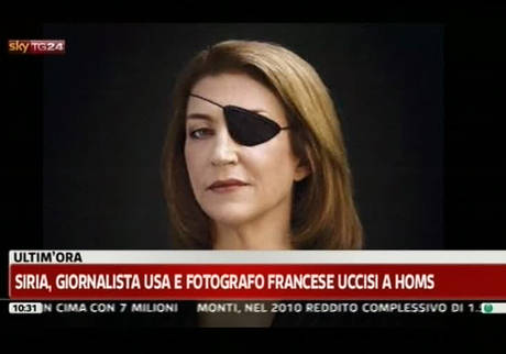 SIRIA: GIORNALISTI UCCISI MARY COLVIN E REMI OCHLIK