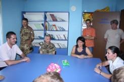La delegazione al Centro per disabili