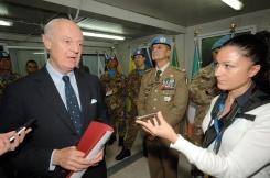 """Il Sottosegretario del Ministro degli Esteri Staffan De Mistura in visita in Libano intervistato da Fabia Martina per """"Rassegna Stampa Militare"""""""