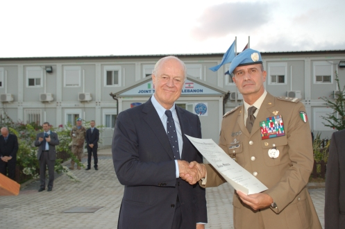 Staffan De Mistura e il Generale Paolo Serra