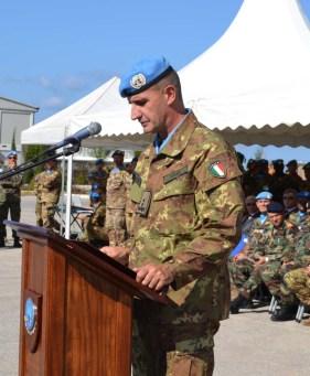 Comandante di UNIFIL, il Generale di Divisione Paolo Serra. - Foto di Fabia Martina