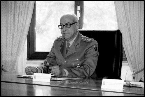 Il Ten. Col. Salvatore Ricciato del 10° Reggimento Trasporti. Foto di Antonio Conte
