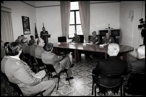 Un momento della Cerimonia, Caserma Picca, sede del CME Puglia. Foto di Antonio Conte