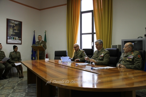 Gli Ufficiali comandanti relatori ed il PI del CME Puglia