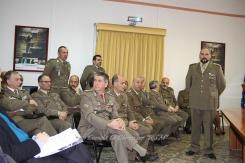 I Militari e Ufficiali presenti alla cerimonia, in primo piano il Capo di Stato Maggiore CME Puglia, Col. Tricarico.