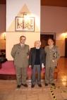 Il Maresciallo Maggiore con Gustavo del Gado ed il Ten. Col. Marasco, responsabile del Sacrario Militare dei Caduti d'Oltremare di Bari