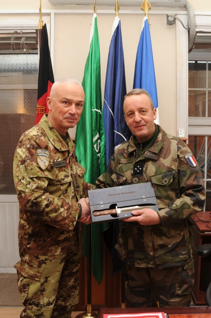 Kabul, Afghanistan. 22 January 2013. ISAF Chief of Staff handover/takeover ceremony