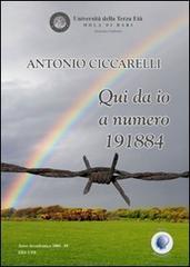 """La copertina del libro """"Qui da io a numero 191884"""" di Antonio Ciccarelli"""