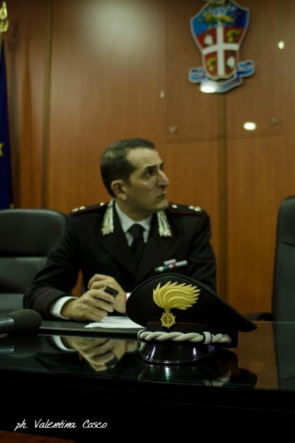 Il C.te del Nucleo Carabinieri Tutela Patrimonio Culturale di Cosenza Magg. Raffaele Giovinazzo ph. Valentina Cosco
