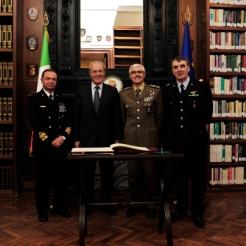 Generale Abrate alla cerimonia di avvicendamento del Presidente del Centro Alti Studi della Difesa