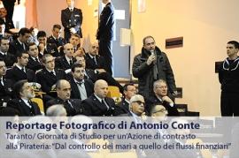"""Reportage Fotografico di Antonio Conte. Evento a Taranto. Giornata di Studio per un'Azione di contrasto alla Pirateria: """"Dal controllo dei mari a quello dei flussi finanziari"""""""