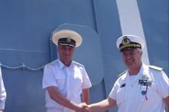 l'ammiraglio natale ed il capitano di vascello vladimir yakushev
