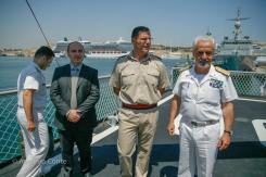 """Durante l'intervista internazionale a bordo di Nave """"Comandante Cigala Fulgosi"""". Porto """"Grand Harbour"""" a La Valletta, Malta. 21 Giugno 2013 - Foto di Antonio Conte"""
