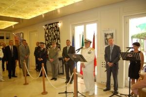 L'Ammiraglio Binelli Mantelli alla cerimonia di chiusura della Delegazione Italiana Esperti in Albania