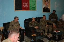 03. un momento del meeting con le forze di sicurezza afghane di Farah