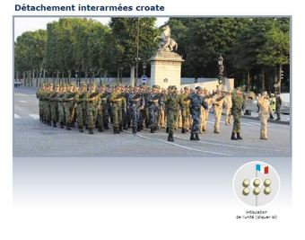 Detachement interarmées croate Bastille Day French army military parade - Défilé militaire 14 July 2013 / 14 juillet 2013