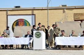 Il Generale di brigata Pellegrino durante il suo discorso