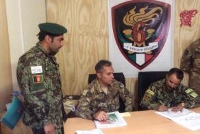 Firma della cessione della base di Bala Boluk