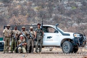 Parte del team della PPA in Namibia