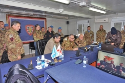 LIBANO DEL SUD/ SHAMA. IL MINISTRO DELLA DIFESA IN VISITA AL CONTINGENTE ITALIANO IN LIBANO