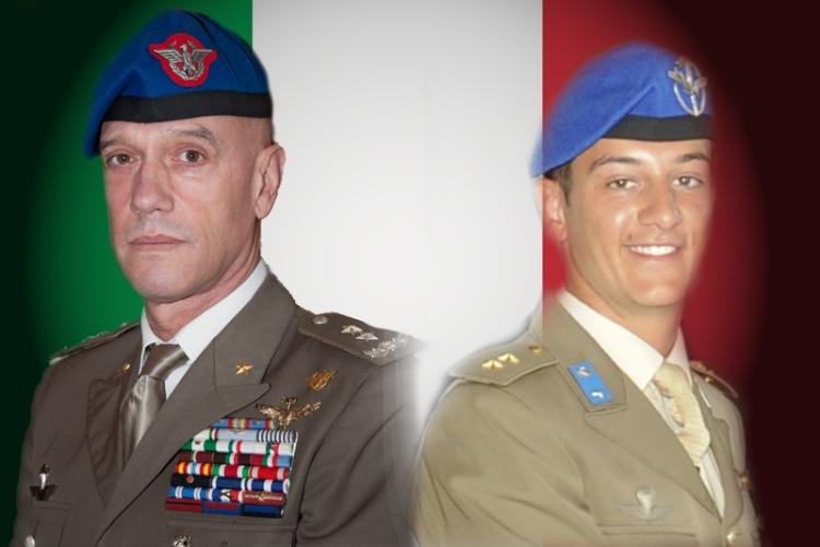 I militari deceduti sono il Generale di Divisione Giangiacomo Calligaris, Comandante dell'Aviazione dell'Esercito e pilota istruttore, e il Tenente Paolo Lozzi, pilota in addestramento.