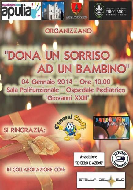 Locandina 4 gennaio Pediatrico beneficenza