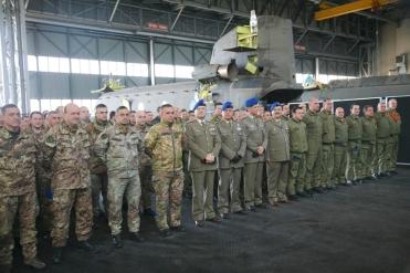 Viterbo/ Il Generale Bernardini al Centro Addestramento Aviazione Esercito