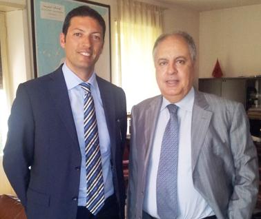 Il neo Console, Vincenzo Abbinanate con l'Ambasciatore del Marocco, Hassan Haboyoub