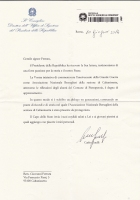 Lettera Presidenza della Repubblica