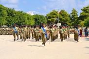 una compagnia del 6° reggimento bersaglieri durante la cerimonia