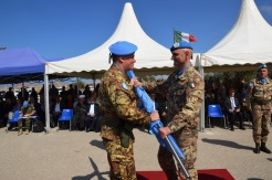 13.10.2014 ToA Unifil Sector West - Gen. DEL COL riceve la Bandiera dell'ONU(8)