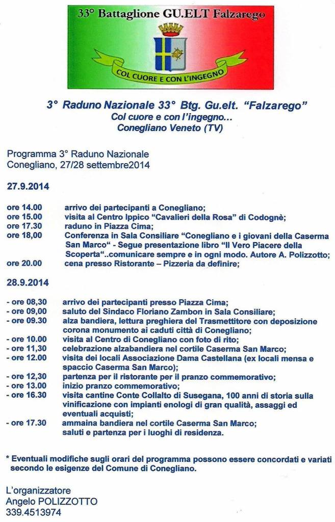 Programma Raduno 2014