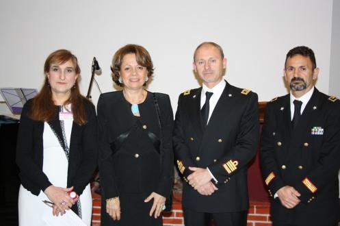 da sx Dott.ssa Rosaria La Rosa, Dott.ssa Aurora Ranno, col. Antonino Poma, 1° Mar. Giuseppe Genna