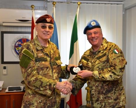 Gen. Bertolini con il Gen. Del Col