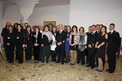 gli artisti con il Colonnello Antonino Poma e gli Ufficiali della Calotta