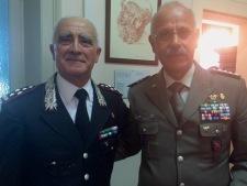 il generale Del Sette con il Generale De Leverano