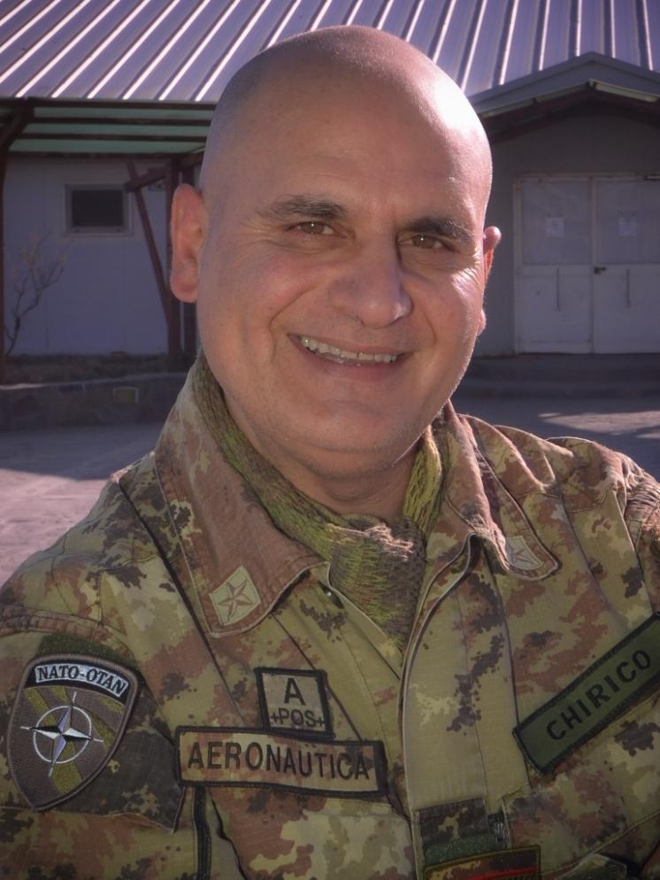 il direttore della Mensa, Primo Maresciallo Giuseppe Chirico