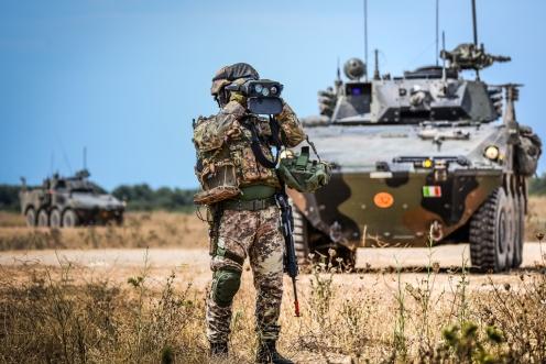 82° reggimento in addestramento