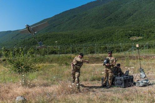assetto dedicato alla ricognizione e alla sorveglianza del terreno tramite velivoli a pilotaggio remoto del 41° reggimento Cordenons.