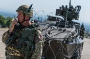 comandante del Battaglione di manovra multinazionale del MNBG-W, Ten. Col Federico Ceccaroli