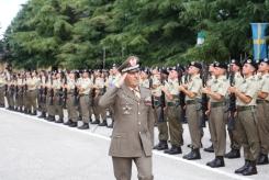 Il Gen. B. Faraglia passa in rassegna lo schieramento