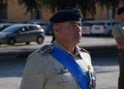 Il Col. Degortes, Comandante del reggimento