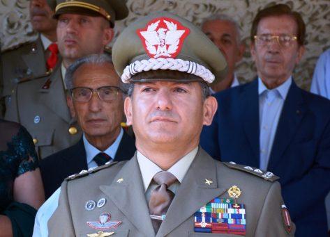 Il Generale di Divisione Massimo Mingiardi, Comandante della Scuola di Fanteria
