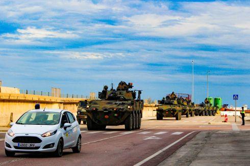 Esercitazione Toro 2019 Trasferimento mezzi dal porto di Segunto con Guardia Civil_5
